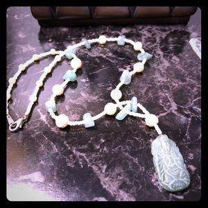 Jade Beaded Guan Yin Necklace